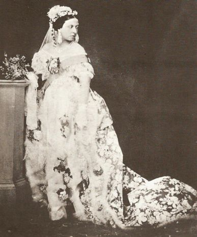 "Queen Victoria was the beginning of the ""bride in white"" wedding trend. Before then, white was often worn as a sign of mourning!"