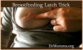 peaceful parenting: Breastfeeding Latch Trick