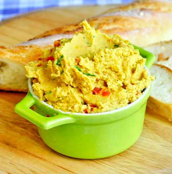 Healthy & delicious, this mildly spiced but beautifully flavourful curry & red pepper hummus is a kid favourite at our house as hummus sandwiches for lunch.