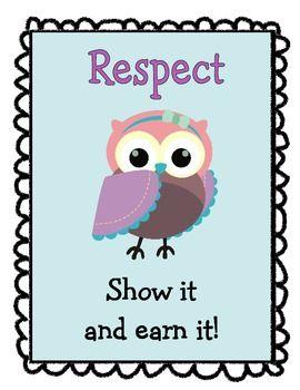 Owl Themed Motivational Poster Set  $