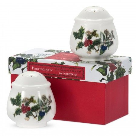 Portmeirion The Holly and The Ivy Salt & Pepper Set - The Holly & The Ivy - Portmeirion UK