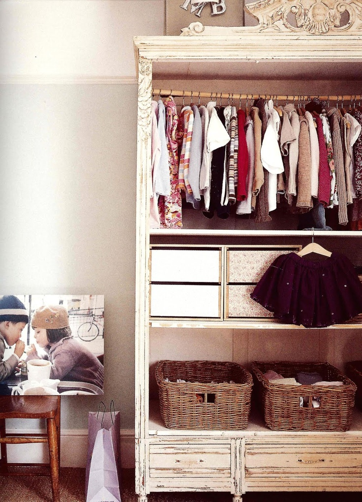 Open storage—the perfect way to appreciate their tiny, sweet clothing
