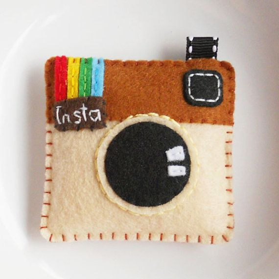 Felt keychain ornament charm instagram by YouYouCreation on Etsy