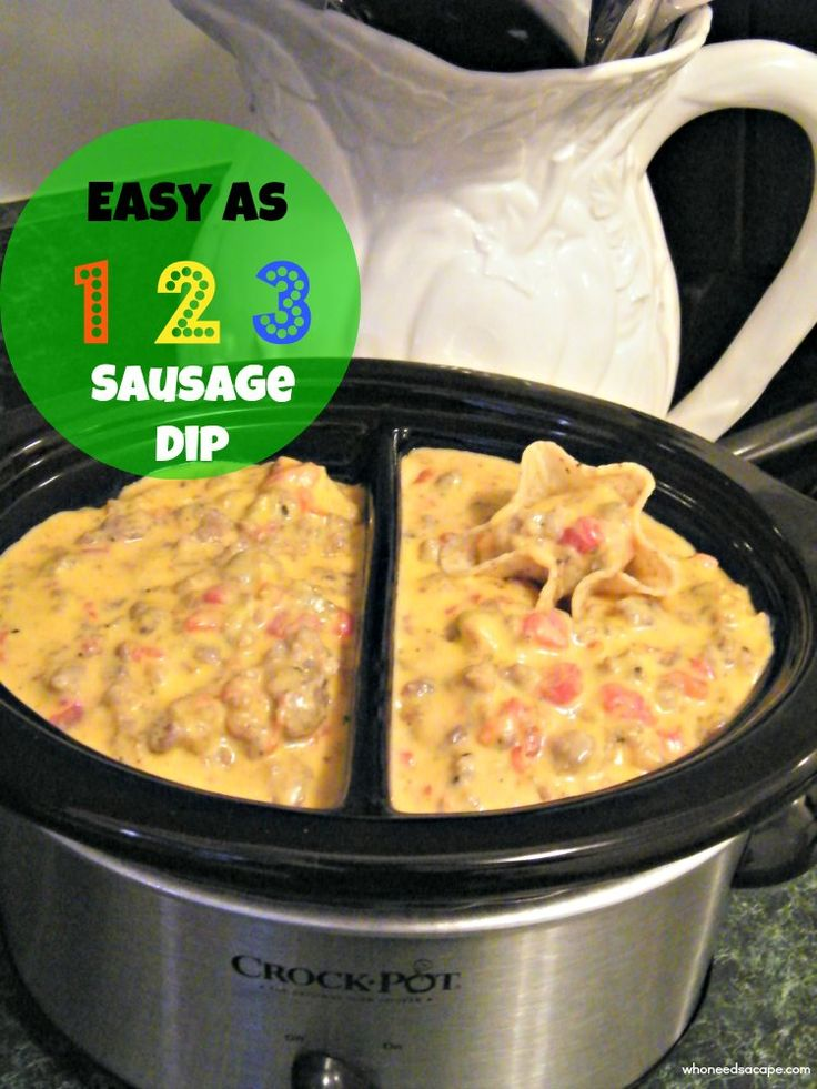 Easy as 123 Sausage Dip.... Perfect for Super Bowl right around the corner!
