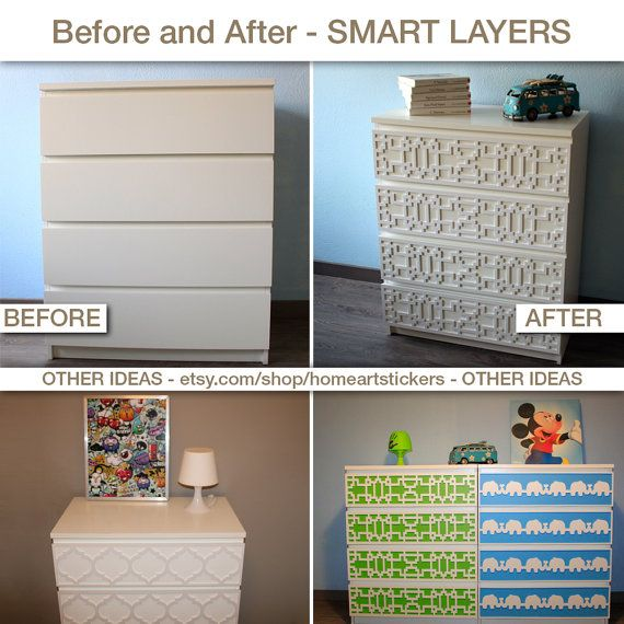 Coral Furniture Appliques Fretwork Overlays by HomeArtStickers