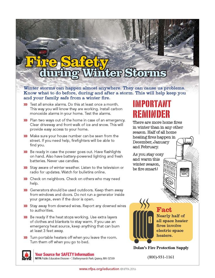 New Jersey Fire Safety Equipment - Fire Equipment supplier in New Jersey - Dolan's Fire Protection Supply - 800-931-1161 - Snowed in? Follow these winter weather fire safety tips from NFPA.
