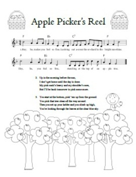 Apple Picker's Reel - great apple song for fall! cute song sheet!