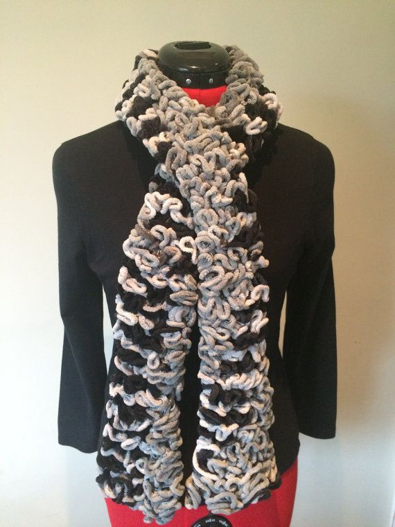 Hand Knitted Scarf  Ladies Scarf   Handmade Scarf  by MarianaPandi