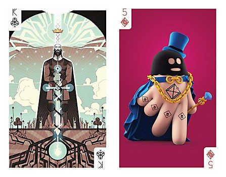 Infinite Collision playing card illustrations