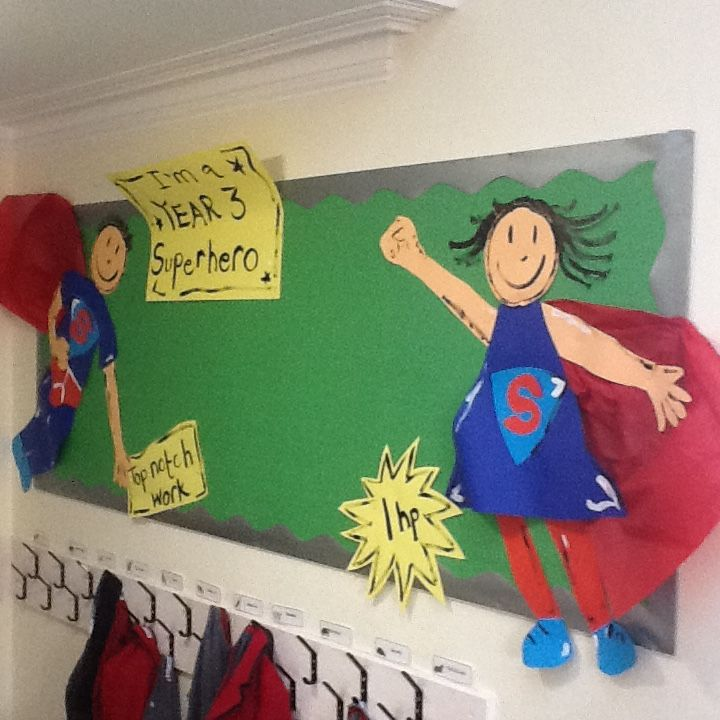 A chance for children and parents to see work on display in the cloakroom.