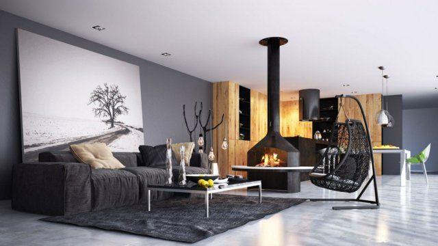 19 idées pour rénover sa maison de campagne Salons, Living rooms