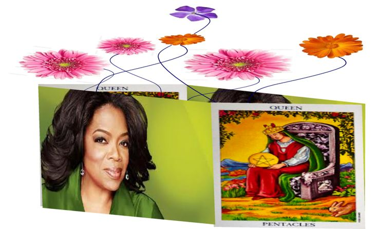 #Oprah captures the abundant and nurturing aspects of the #Queen #of #pentacles beautifully.