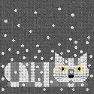 click here to view larger image of Calendar Cat  - Winter (18m) (hand painted canvases)