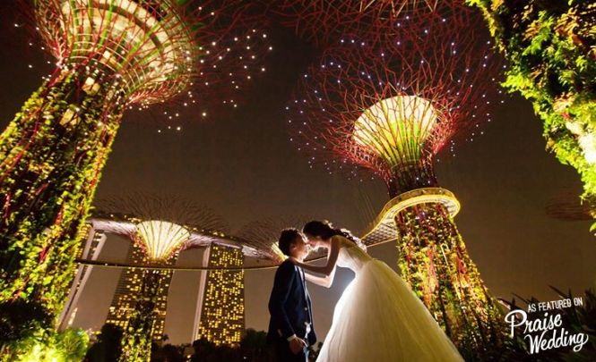 Singapore nighttime prewedding
