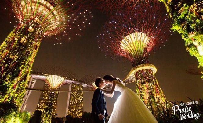 Singapore nighttime prewedding