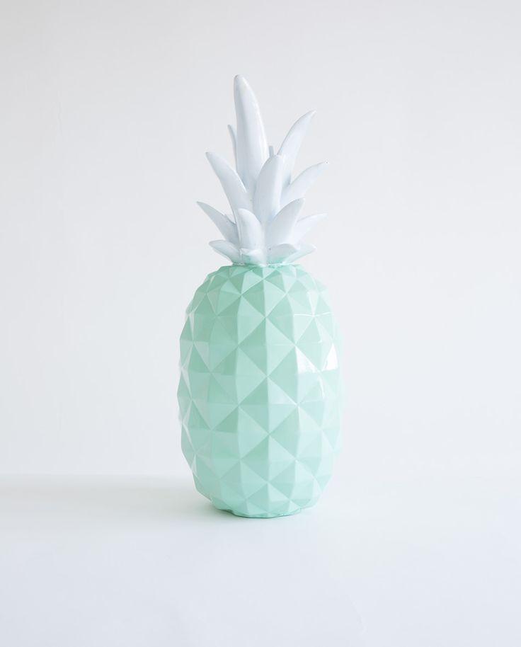 Mint Green Resin Pineapple