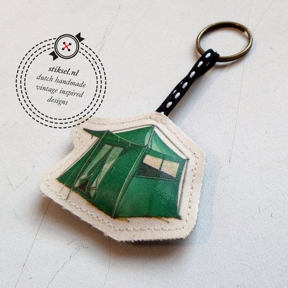 Key Hanger vintage  camping  tent by stiksel on Etsy