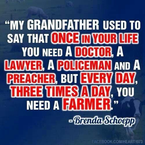 Farmers Day Quotes: Thank A Farmer Quotes. QuotesGram