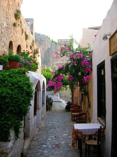 Narrow alley in Monemvasia, #exploreGreece_hellenicdutyfree