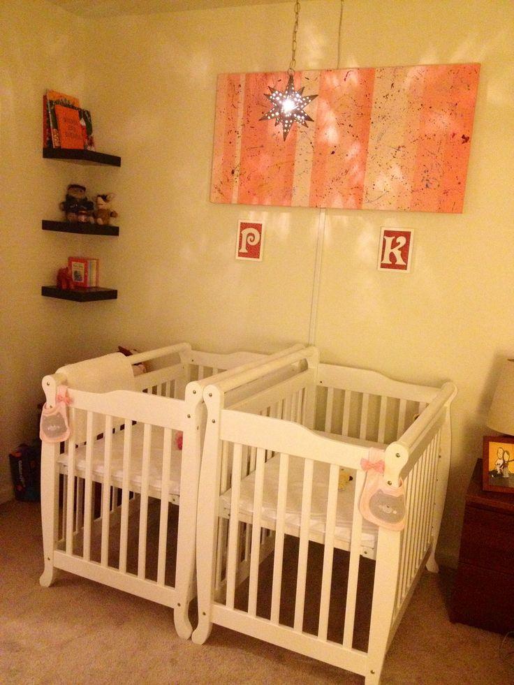 Our twin girl nursery!
