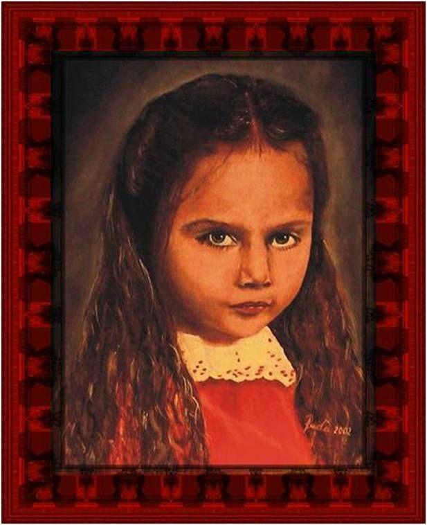 Portrait - oil painting canvas