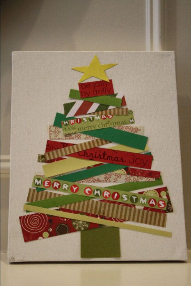 Picture using old greeting cards … | Christmas Cards and Crafts | Pinte…