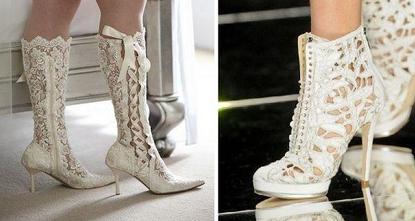 Si quieres ser una novia original y alternativa el día de tu boda, entonces la elección de tus zapatos debe ser cuidadosa, ya que estos pueden darle el toque que buscas a tu atuendo. Estas 25 maravillas son la mejor opción. Por si llueve.