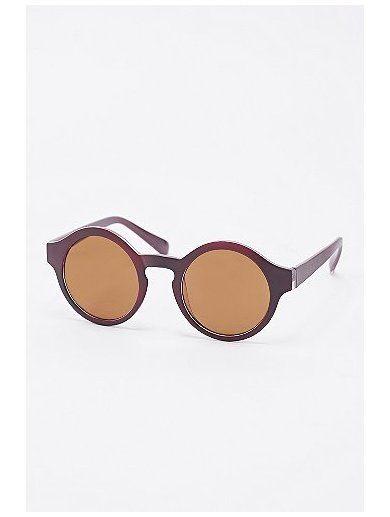 Isobel Round Sunglasses in Burgundy www.sellektor.com