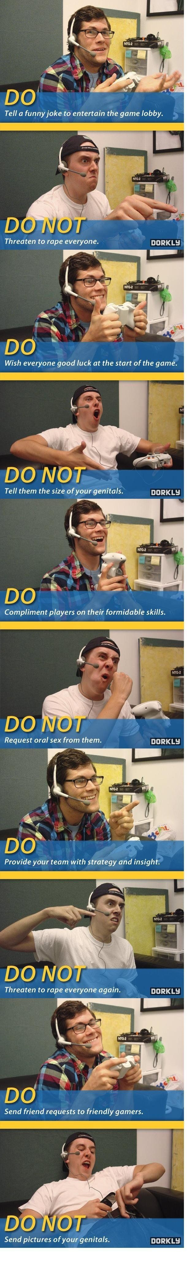 Tips on Xbox Live Etiquette
