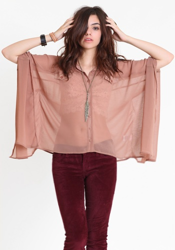 Caravan Chiffon Blouse #threadsence #fashion