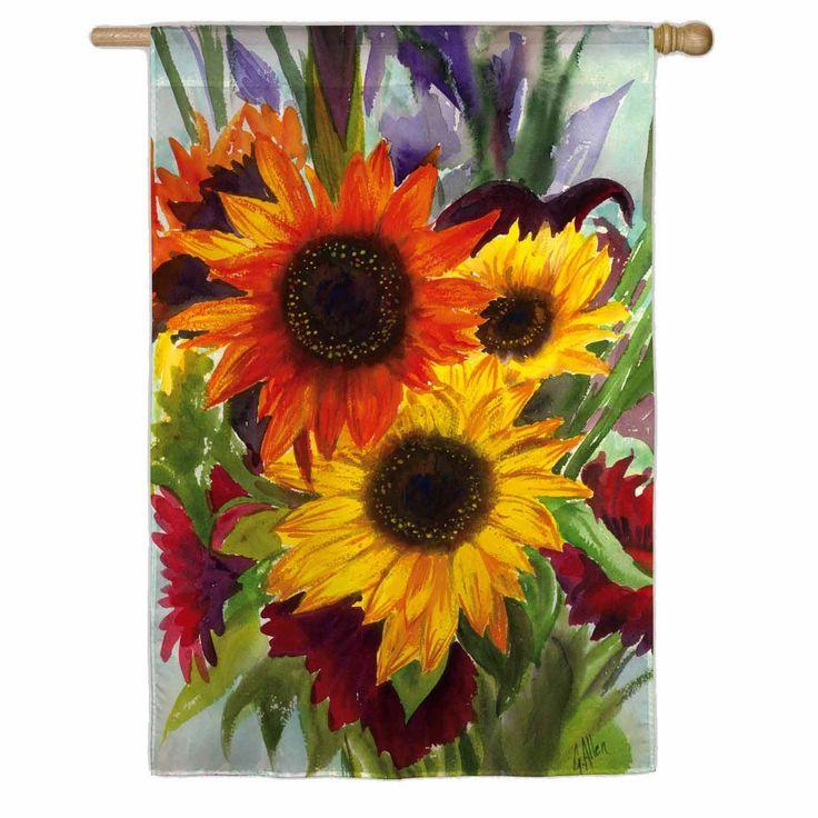 Sunflower Explosion Fall House Flag