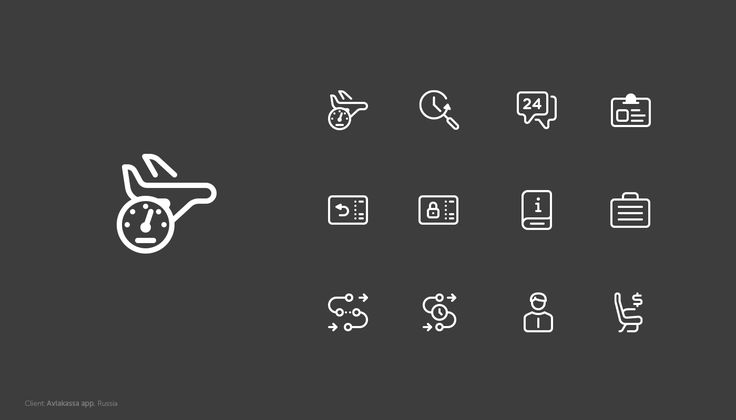 Icons and illustrations, 2016 on Behance