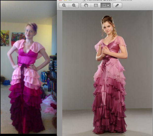 Deviantart hermione yule ball dress for a better fade ombre look