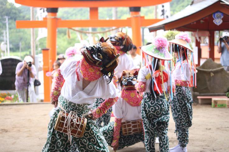 羯鼓舞(かっこまい)ー富津市古船浅間神社  毎年7月第一日曜開催