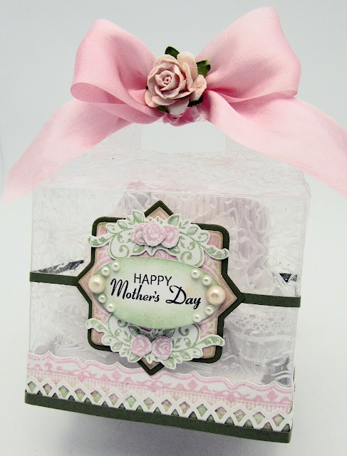 Mother's Day box designed using Spring Rose Medallions and Vintage Rose Medallions and Classic Lace Edges One