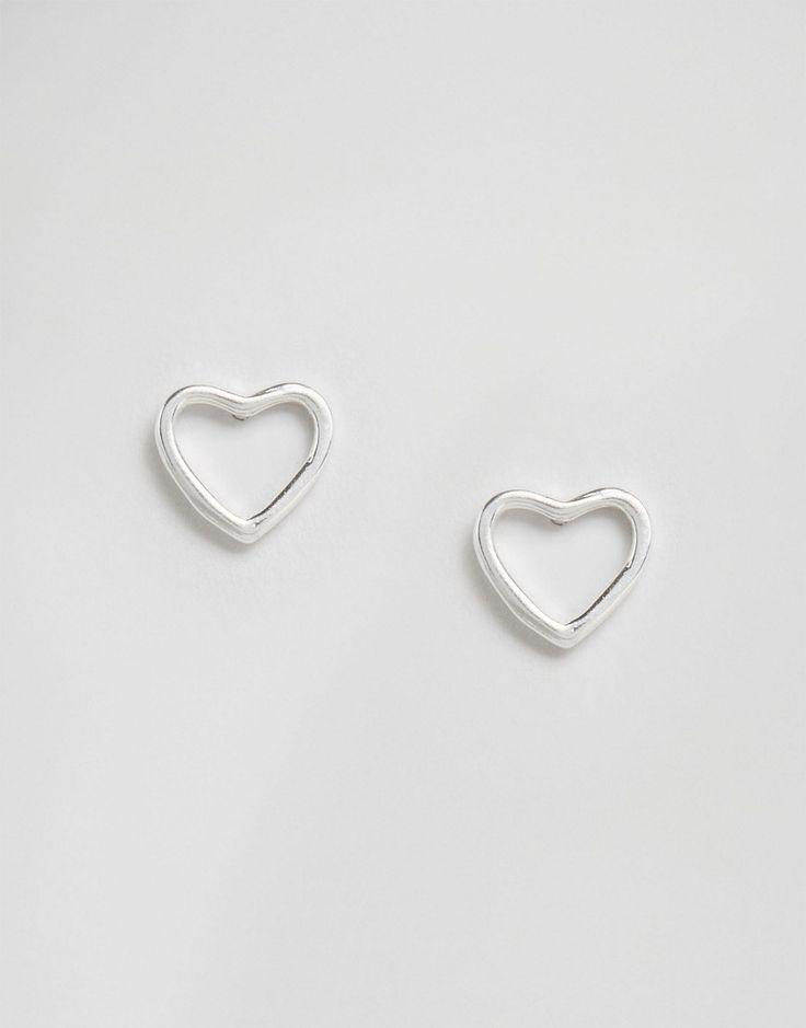 Immagine 1 di New Look - Orecchini a bottone a cuore