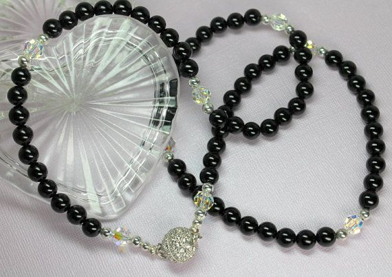 Best Black Onyx Necklace Onyx And Crystal Necklace By 400 x 300