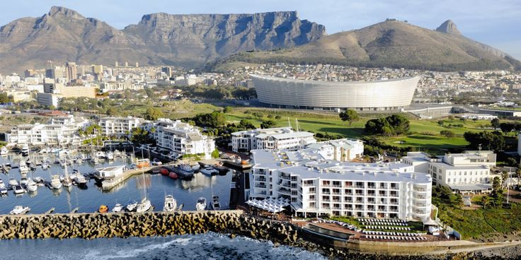 Table mountain and the cape Town stadium in all its glory.