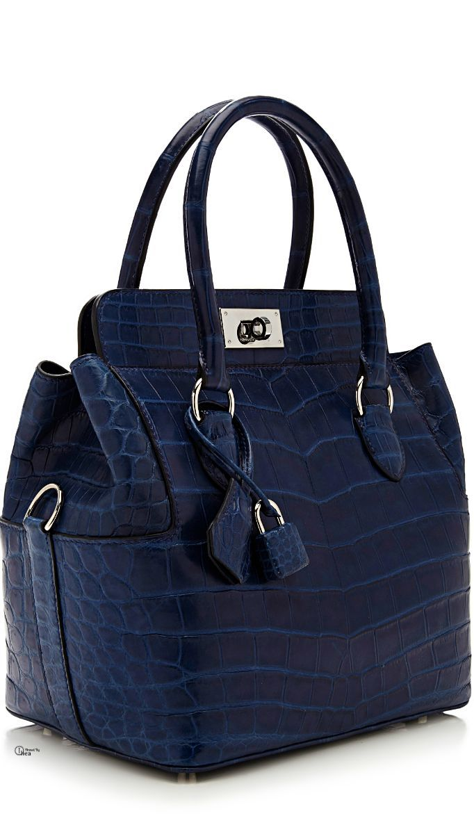 Hermes Blue Sapphire Bag - love the styling, don't carry this leather style, but love the color, like my bags to be plain leather with no info
