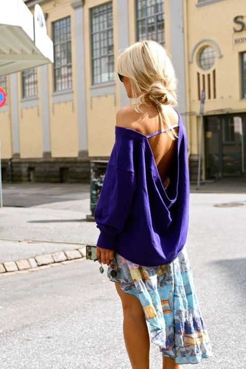 Love this slouchy sweater.