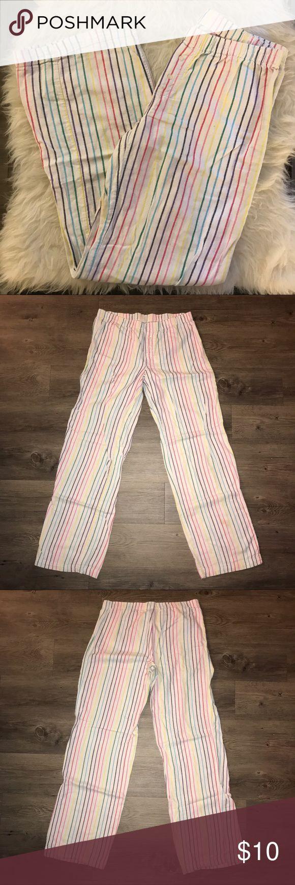 Pink VS Striped pj pants Light piling between legs. Flannel material. Multi colored stripes. PINK Victoria's Secret Intimates & Sleepwear Pajamas