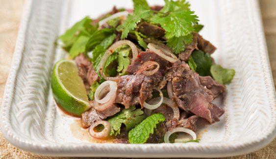 Thai Grilled Beef Salad (Neua Naam Tok) - Rice Recipes   Anson Mills - Artisan Mill Goods