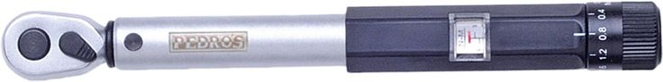 Click-Type Micrometer Torque Wrench - Features a quarter-inch reversible ratcheting drive and heat-treated steel construction - Quickly set torque using a micrometer-style dial and simple locking mech