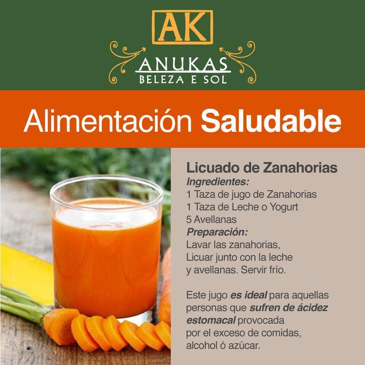 #Alimentación Saludable Licuado de Zanahorias...