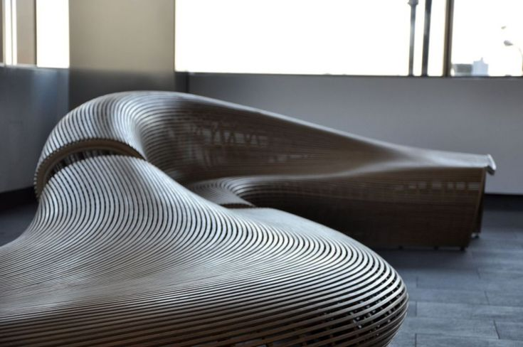 Love the flowing lines of this seating.  Clay Brakke
