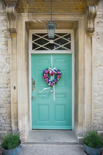 """Super sweet Rectory hotel doors, decorated specially for your big day! For more Alternative Wedding inspiration, check out the No Ordinary Wedding article """"20 Quirky Alternatives to the Traditional Wedding""""  http://www.noordinarywedding.com/inspiration/20-quirky-alternatives-traditional-wedding-part-4"""