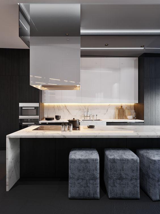 58 best Aménagement cuisine images on Pinterest Dark kitchens
