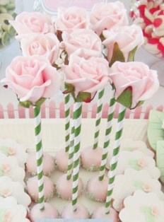 Rose cake pops. Wow. Paint them Red!!  - Deck of Cards Make them with white and red icing