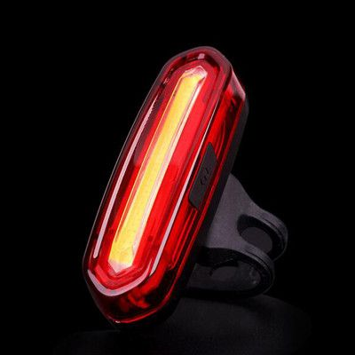 Bicycle USB Rechargeable LED Light Bike Front / Rear Light Outdoor Cycling Warning Lamp Night Safety Taillight