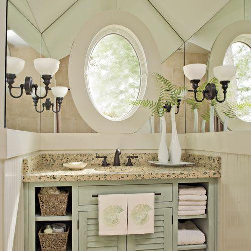 Subtle Beach Inspired Bath Vanity Home Shopping Board